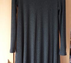 Mango pčetena haljina tunika siva s vel