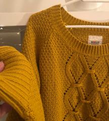 Džemper boje senfa