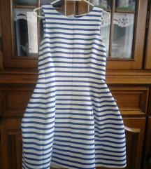 Mornarska zara haljina