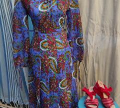Vintage plisirana haljina