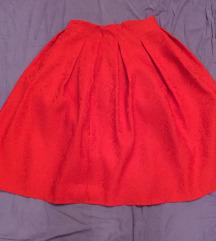 Pin up crvena suknja s