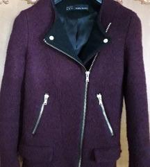 AKCIJA Zara XS bordo jakna kaput (besplatna pt)