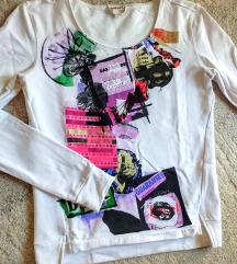 DIESEL bijelo/sarena majica