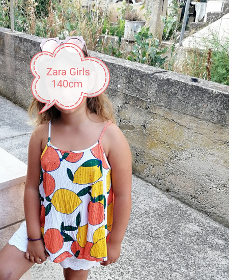Zara Girls asimetrična majica 140cm
