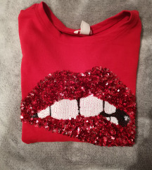 Pulover crveni H&M S vel.