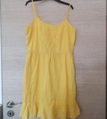 Benetton nova žuta haljina 38 M