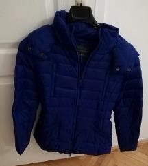 BENETTON plava pernata jakna