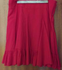 Suknja A-kroja s volanima