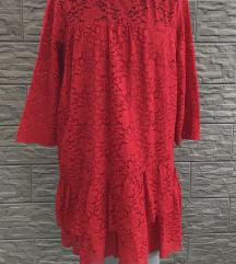ZARA haljina/tunika od čipke- M