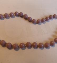 Ljubicaste perle ogrlica
