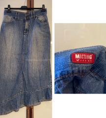 Mustang jeans midi traper suknja