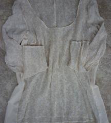 Bluza tunika, svila, L