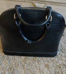 Poslovna crna lakirana torba