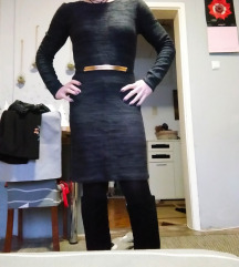 Tamno siva zimska haljina