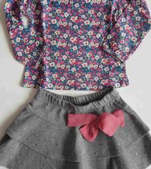 Zara majica+ Fagottino suknja vel. 98 ( 2-3 god)