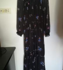 Haljina cvjetna crna sa Volanima kao nova