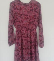 roza haljina 38