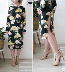 Zelena haljina s cvjetovima