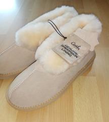 Krznene papuče kožne