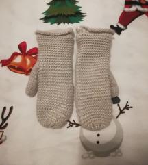 Sive H&M rukavice sa srebrnim nitima