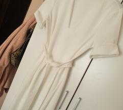 Zara basic bijela haljina L