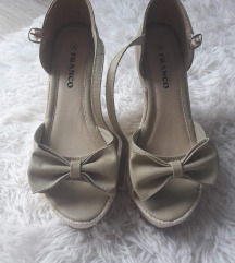 Sandale na punu petu sa mašnom