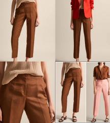 MassimoDutti smeđe hlače na crtu (pt uklj)