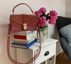 ZARA roza torbica na dupli preklop