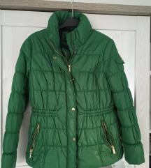 Futrana zelena jakna vel.44