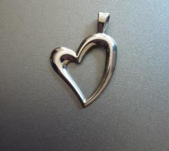 Srebrni privjesak srce, 925
