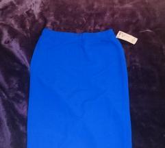 Plava uska suknja