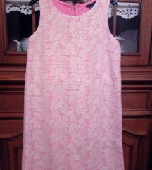 H&M roza haljina, čipka
