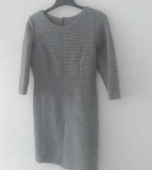 Siva scuba haljina