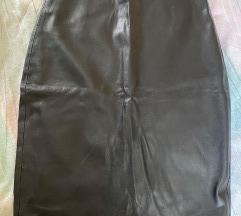 Mango kožna suknja