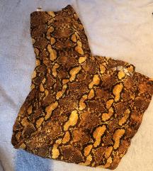 Zara senf zmijski print culotte hlače XS