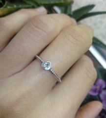 Prsten srce, srebro