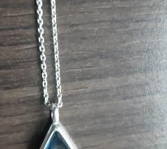 Swarovski lančić s privjeskom, srebro