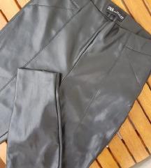 ZARA kožne hlače / moto / visoki struk