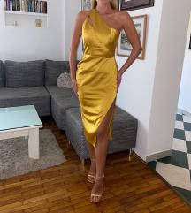 Zlatna Asos midi svilena haljina