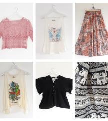 Rađe kupi nego lajkaj – suknje i majice - 6 komada