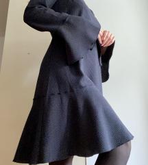 MANGO tamnoplava prugasta haljina