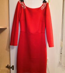Svečana crvena uska haljina