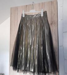 Midi plisirana suknja vel 34-36