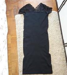 Krasna, nova haljina, elasticna, s cipkom gore