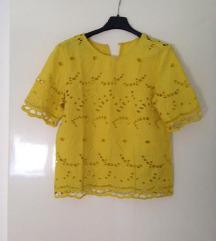 Žuta čipkasta šlingana majica 34, xs