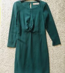 Tamnozelena midi haljina vel 38