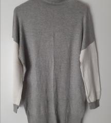 Haljina - tunika sivo bijela univ.velicina