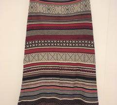 Duga pletena suknja