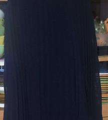 C&A plava plisirana haljina 38(40, 42)