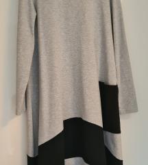 Sivo crna haljina A kroja